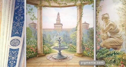 ... dipinti, finiture murali, dipinti su commissione. Italia e Estero