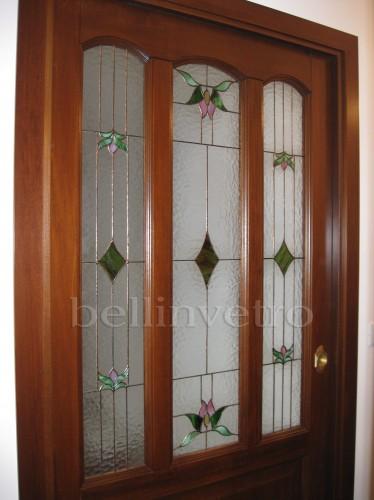 vetro tiffany per porta - 415 : (corleone) - Vetri Sabbiati Per Porte