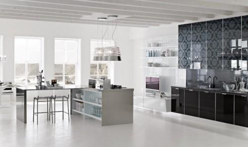 Cucina moderna con anta vetro eboli - Cucine con vetrate ...