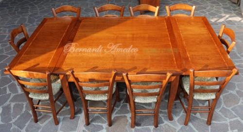 Tavolo quadrato allungabile in noce ros - Tavolo quadrato 140x140 ...