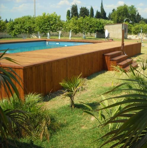Piscina fuori terra con solarium priolo gargallo for Piscina fuori terra 4x8 prezzo