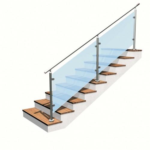 Gallerie fotografiche scale inox vetro cittadella - Scale in vetro e acciaio prezzi ...