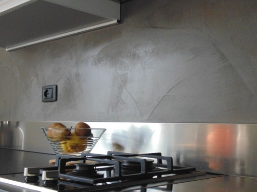 Parete e pavimento cucina in resina Trento : (Spiazzo)