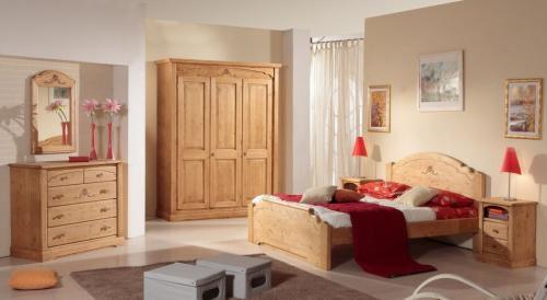 Camere Da Letto Rustiche Foto : Camera da letto rustica in legno armadio como comodini : urbana
