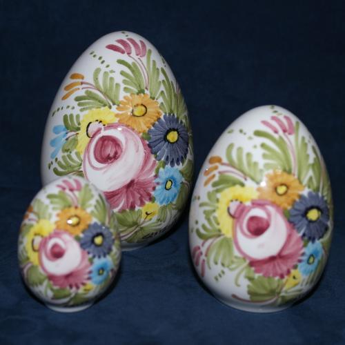Uova Di Pasqua Ceramica.Uovo Di Pasqua In Ceramica Di Castelli Cm 10