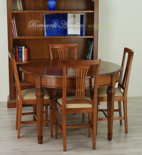 tavolo allungabile rotondo 120 cm : (rosà) - Tavolo Rotondo Arte Povera