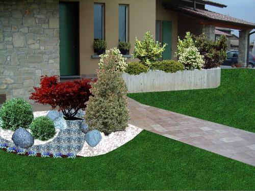 Progettazione giardini bagnolo mella for Rendering giardino