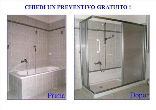 Trasformazione vasca da bagno in piatto doccia cuneo for Togliere vasca da bagno e mettere doccia