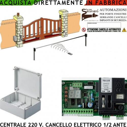 Centrale cancello elettrico come proteco 1 2 motori 220 v programma corsa divers roma - Serranda elettrica casa ...