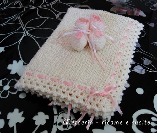 Amato Scarpette e copertina in lana per neonata : (Grottaglie) YF24