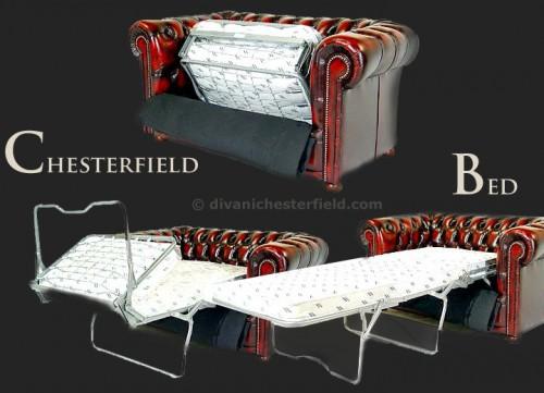 Divano letto chester in pelle nuovo made in england riano - Divano letto chesterfield ...