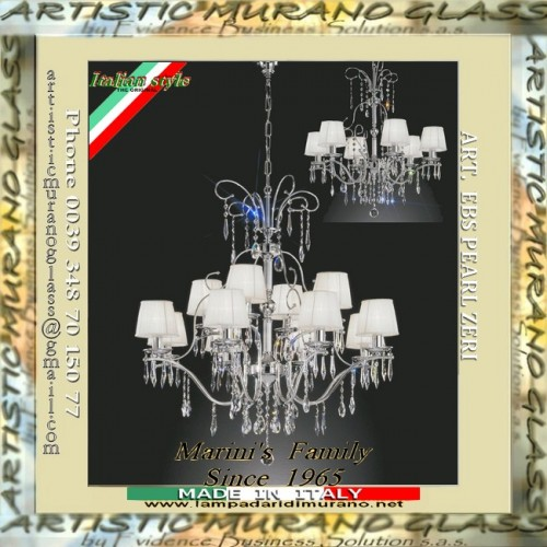 Lampadari con pendenti in cristallo - Optical Pure _ ART. EBS PEARL ...