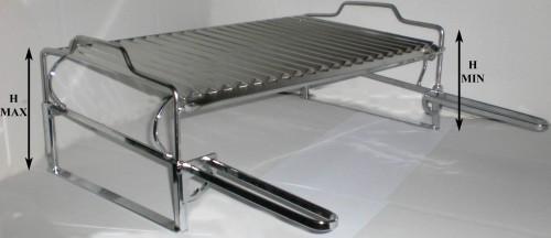 Griglia per barbecue e caminetto regolabile inox for Griglia per barbecue bricoman