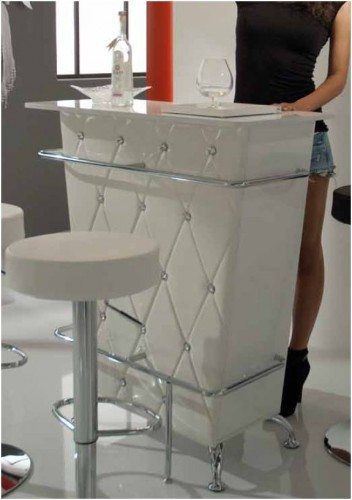 Mobile bar tomasucci diva white imbottito bianco con - Mobile bar bianco ...