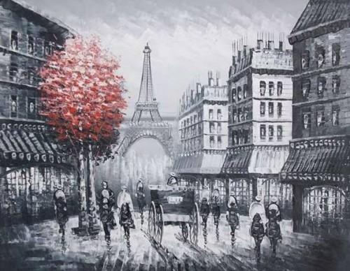 Dipinti a olio paesaggi roma for Quadri di parigi