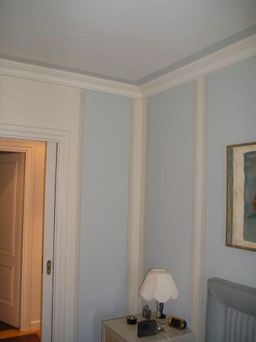 Tinteggiatura pareti effetto tappezzeria concesio for Idee imbiancatura soggiorno