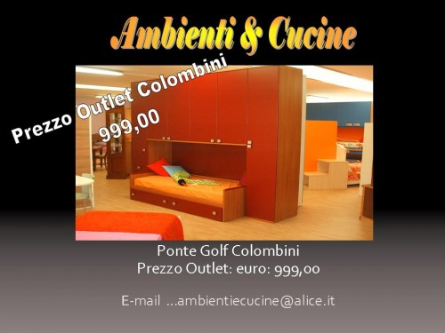 Outlet Cameretta Colombini Ponte