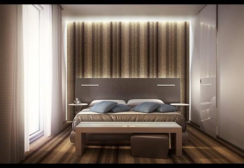 Rendering camere da letto clusone for Camera letto 3d
