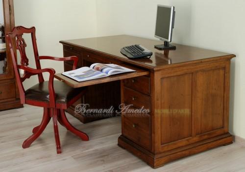 scrivania da studio in noce ros