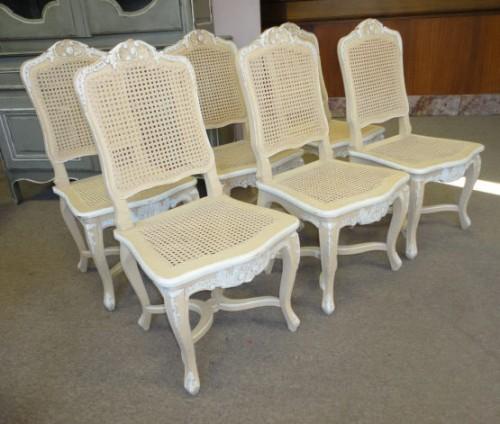 Gruppo sedie provenzali in stile LUIGI XV decapè : (Albano Laziale)