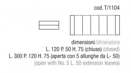 Consolle Magic Box Zamagna.Consolle Tavolo 120x50 Allun 300 In 2 Colori Zamagna Magic Box T 1104