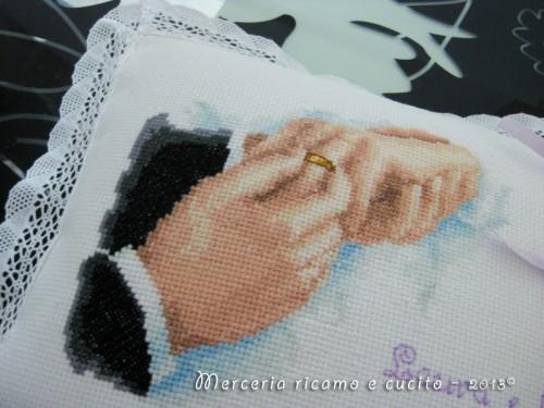 Cuscino portafedi con ritratto with this ring - Cuscino portafedi punto croce ...