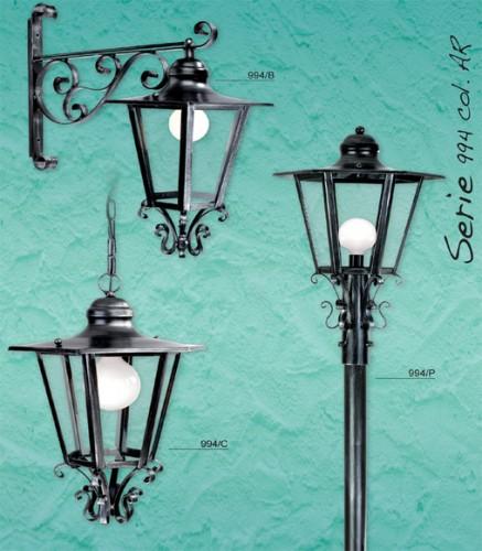 Lampione da esterno argelato - Lampioni da giardino fotovoltaici ...
