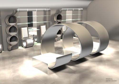 Interior design negozio calzature : (Mirano)