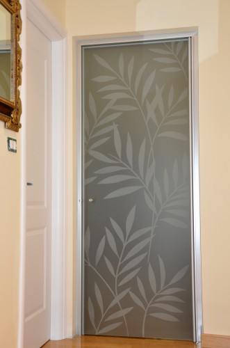 Mazzoli vetri d 39 arte forl - Decorazioni su porte interne ...