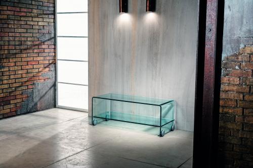 Tavolini In Vetro Porta Tv : Tavolino porta tv vetro curvato vet t w pesaro