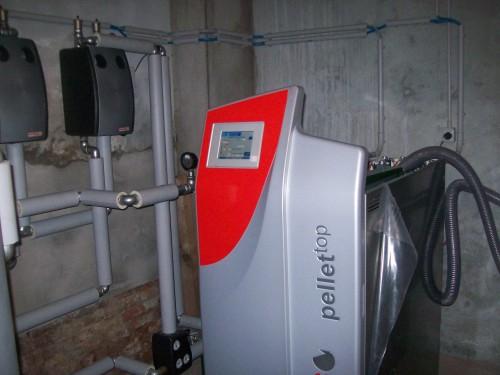 centrale termica solarfocus caldaia a pellet san