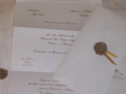Le Partecipazioni Di Matrimonio In Carta Di Amalfi