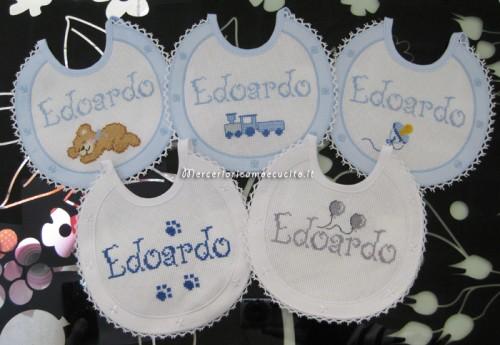 Set corredino per nascita – Sacchetti nascita, bavette e fiocco nascita aeroplano per Edoardo
