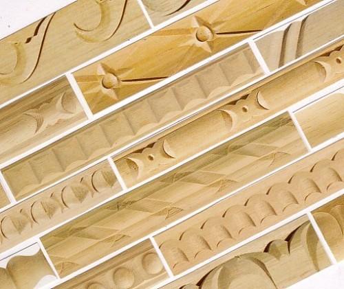 Bricomm aste scolpite listelli fresati aste con decori - Decori in legno per mobili ...