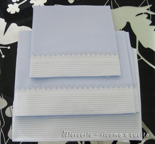 Set lenzuolino a righe in cotone
