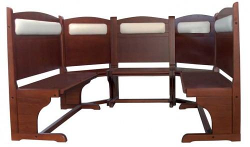 Panca mod bruxian in legno massello in faggio imbottita - Panche e tavoli in legno per pub ...