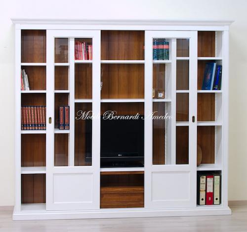 Libreria con ante scorrevoli e porta Tv : (Ros?)