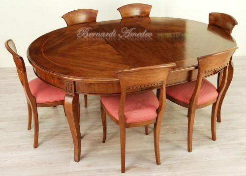 Tavolo rotondo allungabile diametro 140 cm ros for Tavoli rotondi classici