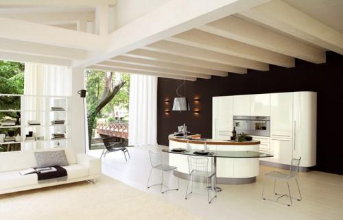 Zona giorno moderno cucina record venere grammichele for Zona living moderna