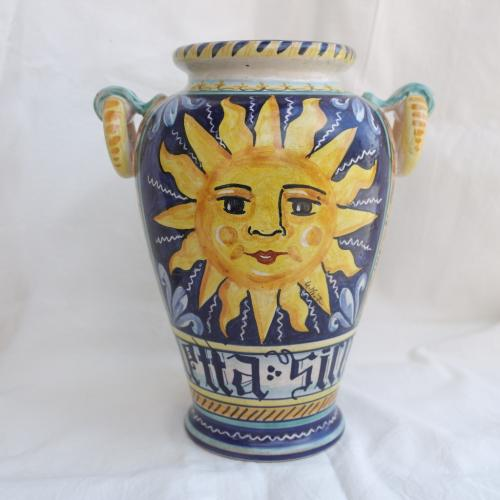 Vaso in ceramica di castelli sole e luna cm 30 l 39 aquila - Portaombrelli in ceramica bianca ...