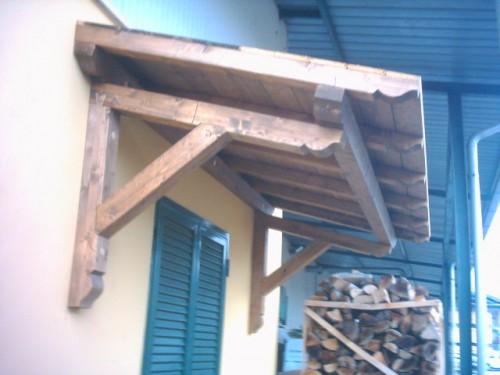 Occasione tettoia a sbalzo per sopra portoni o finestre san cesareo - Tettoia per porta ingresso ...