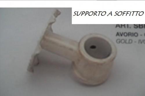 SUPPLEMENTO: SUPPORTO A SOFFITTO ACCIAIO PER BASTONI MM. 20 : (Porto ...