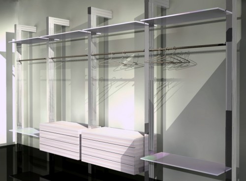 Cabina armadio kapdesign in alluminio su misura arsego di san giorgio delle pertiche - Cabina armadio su misura ...
