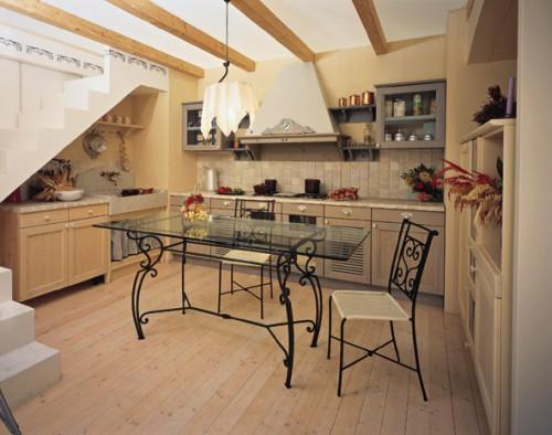 Tavolo rettangolare urbino roma - Tavoli da pranzo ferro battuto e vetro ...