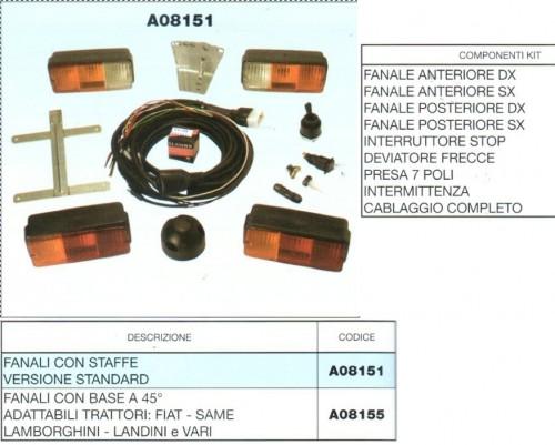 Schema Elettrico Per Rimorchio Agricolo : Kit universale impianto luci e frecce standard o con base
