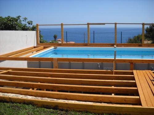piscina fuori terra con solarium priolo gargallo
