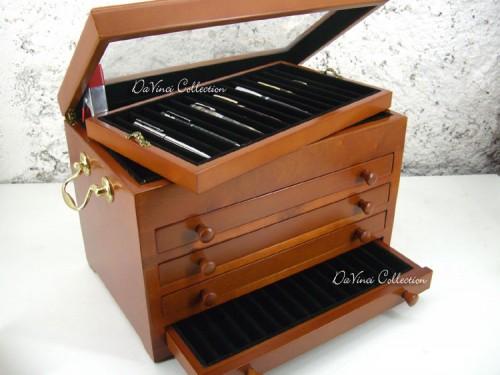 Portapenne scatola vetrina porta penne 50 pen case box for Case da 500 piedi quadrati