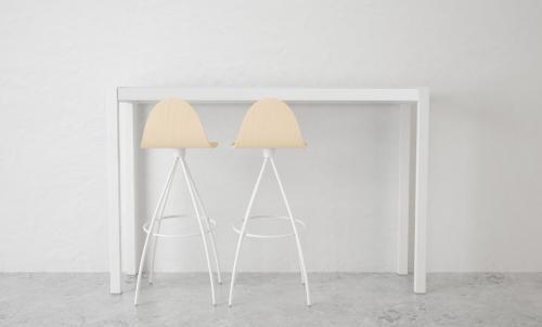 Tavolo alto per sgabelli piano vetro o ceramico alt..90 105x110x40