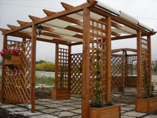 Gazebo rettangolare con fioriere priolo gargallo - Gazebo giardino ikea ...