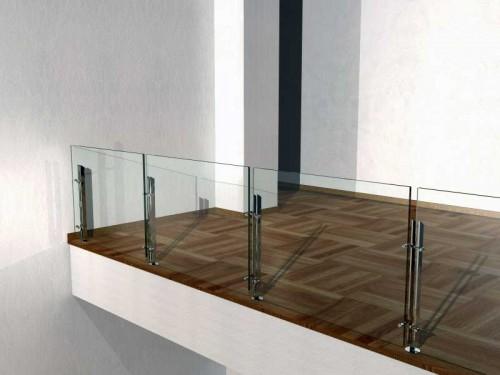 Parapetti in vetro stratificato brugine - Parapetti scale in vetro ...